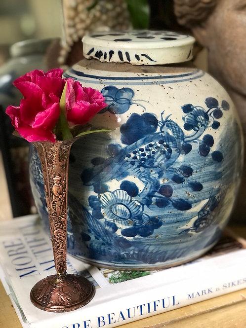 Tarnished bud vase