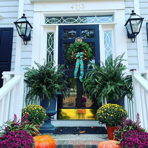 Fall boxwood wreath