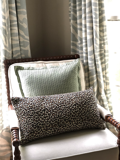 Leopard print lumbar pillow