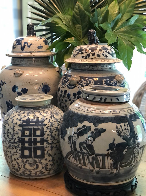 Ginger jar with kids playing