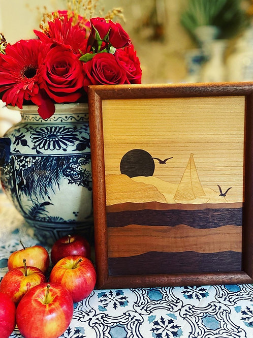 Handmade wooden artwork