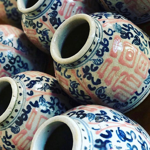 Pink water drop vase