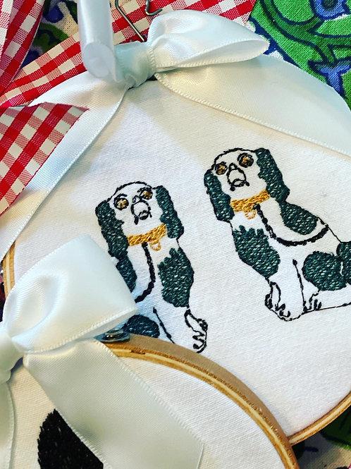 Staffordshire pup ornament