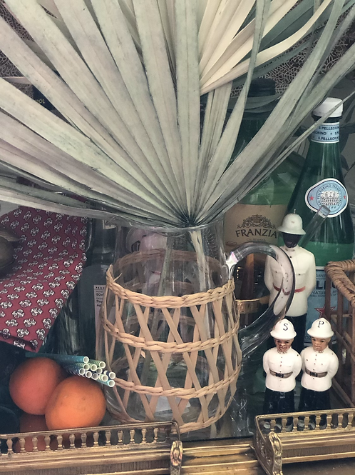 Wicker covered pitcher