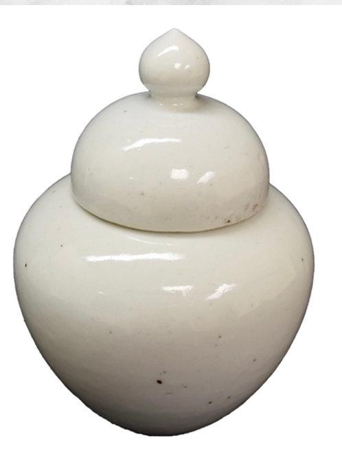 White ginger jar medium- antique reproduction