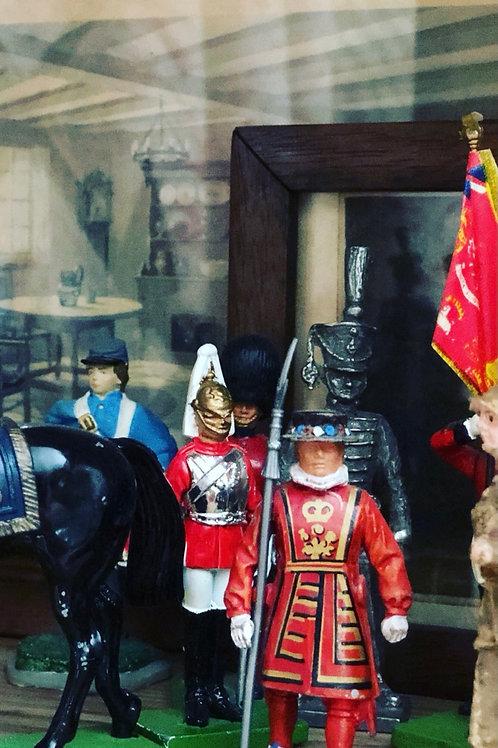 Set of five British guards