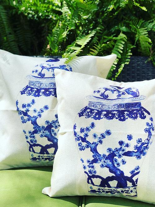 Temple jar pillow cover pair