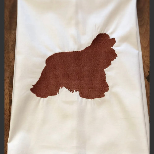 Embroidered cavalier hand towel