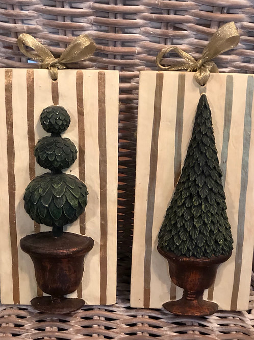 Topiary wall plaques