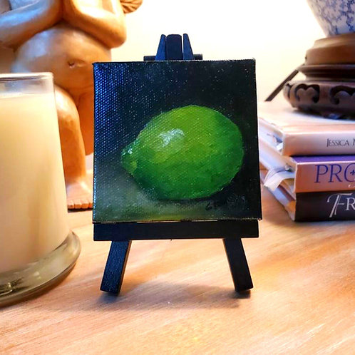 Lime oil on canvas