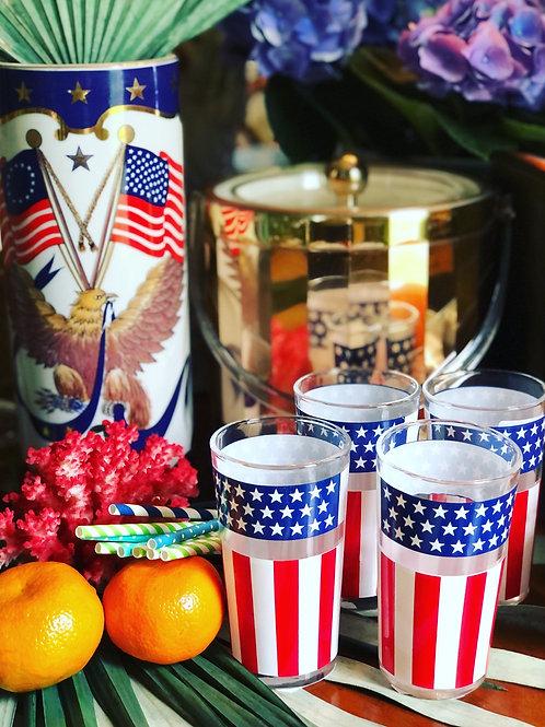 Patriotic glass set