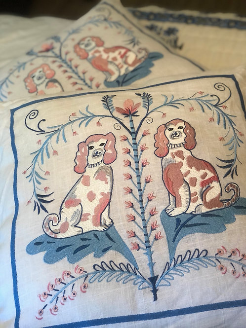 Staffordshire pillow pair
