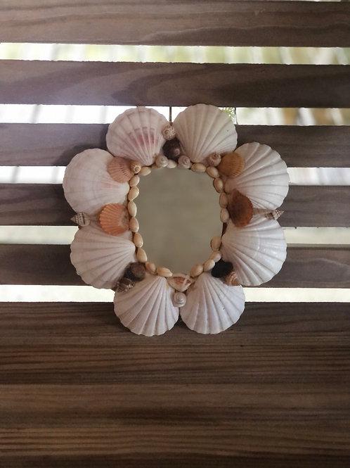 Small seashell mirror