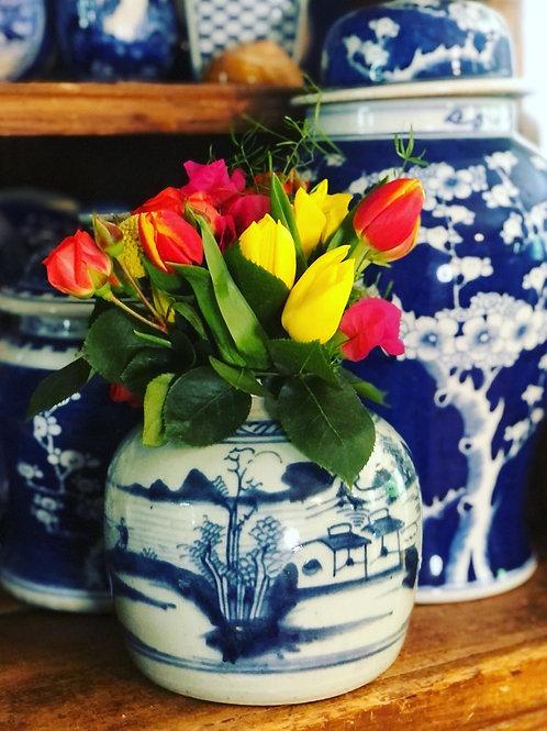 Antique canton jar
