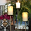 Thumbnail: Brass bamboo look candleholders