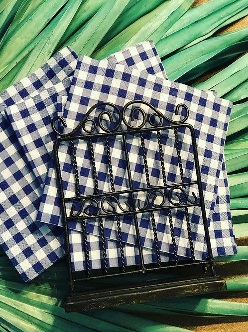 Garden gate napkin holder