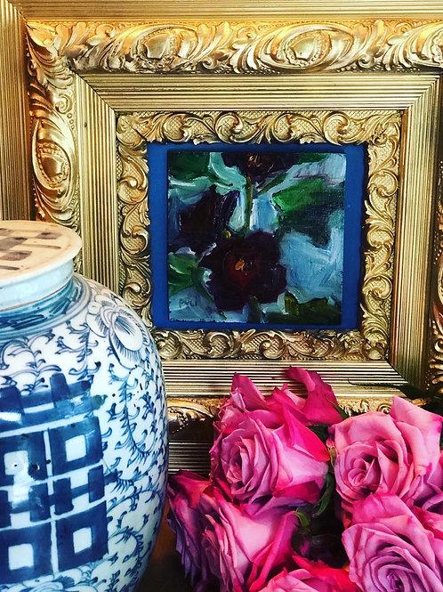 Holly Hock oil in frame