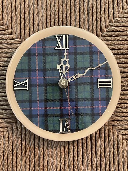 Plaid clock