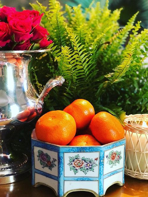 Floral octagonal bowl
