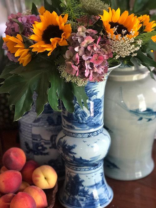 Trumpet village vase