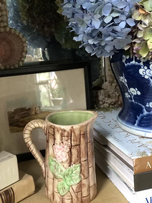 Majolica inspired pitcher