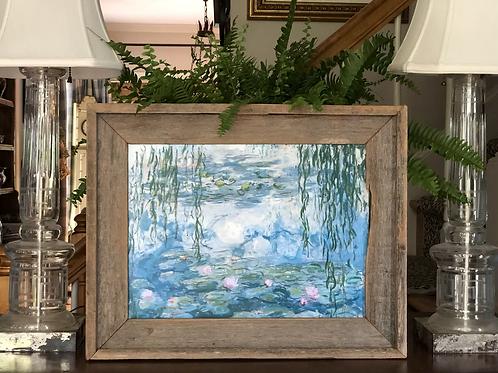 Canvas artwork in handmade wooden frame