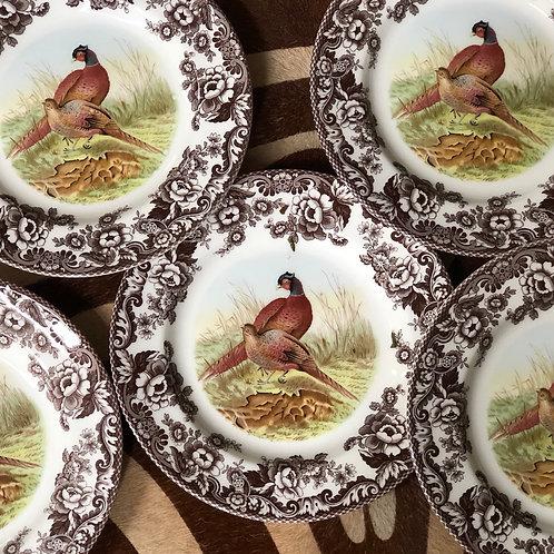 Spode pheasant dinner plates