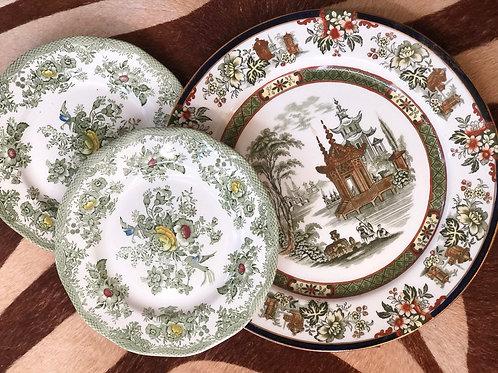 Green plate trio
