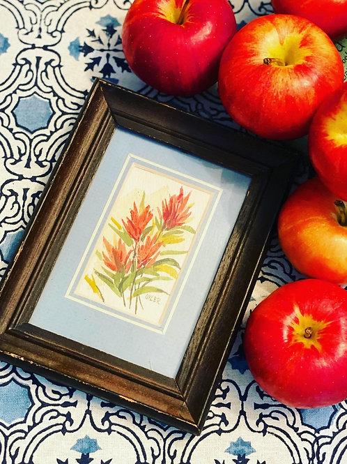 Framed floral watercolor