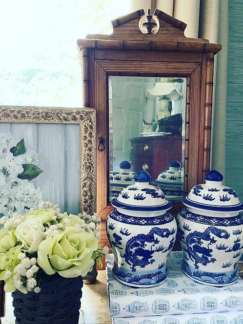 Pair of dragon jars