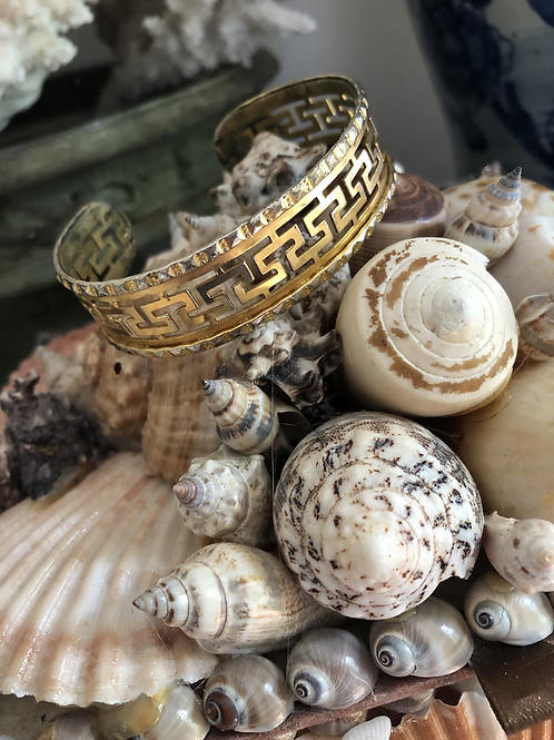 Greek key bracelet