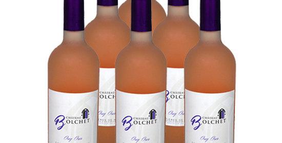 6 bouteilles Costière de Nîmes 2017 - Rosé - Osez Oser