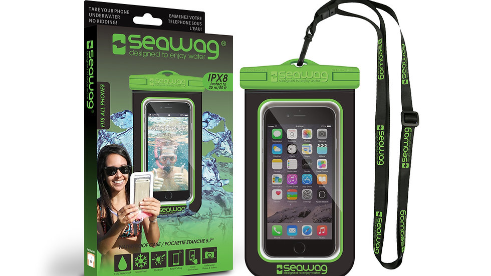 Waterproof Case - Smartphone (Black / Green) - Universal Size