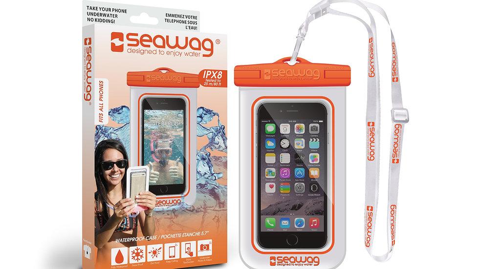 Waterproof Case - Smartphone (White / Orange) - Universal Size