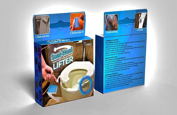 Sani-Hani Antimicrobial Toilet Seat Handle
