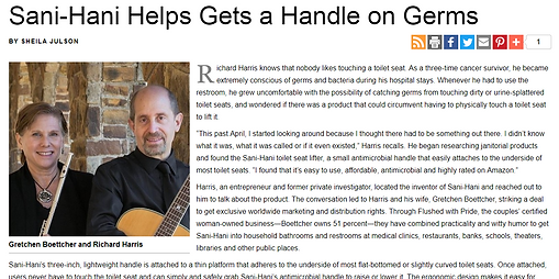 Sani-Hani article in Natural Awakenings - Dallas magazine