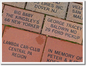 Engraved Brick Pavers