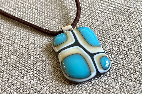 Intersections Collection turquoise, vanilla & dark grey Pendant