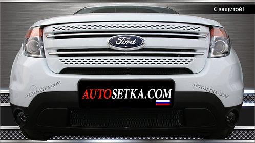 Premium защита радиатора Ford Explorer (2012-2015Ч