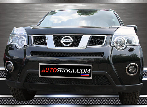 Premium защита радиатора Nissan X-Trail 2010 Хром