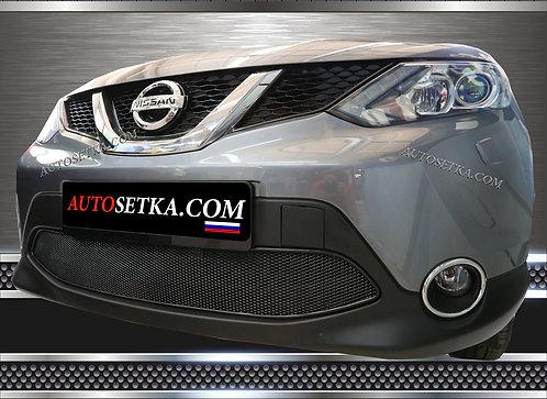 Premium защита радиатора Nissan Qashqai Черная