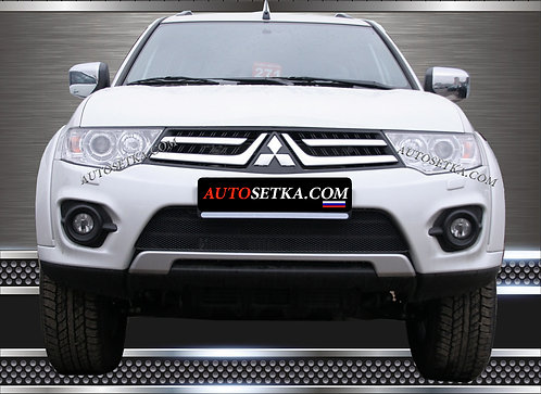 Premium защита радиатора Mitsubishi L200 2015 Хром