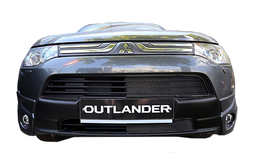 Premium защита радиатора Outlander 2012-2015 Хром.