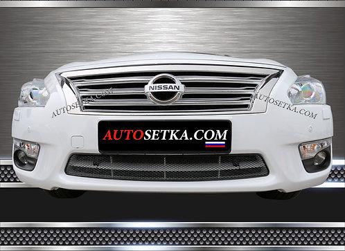 Premium защита радиатора Nissan Teana (2014-) Черн