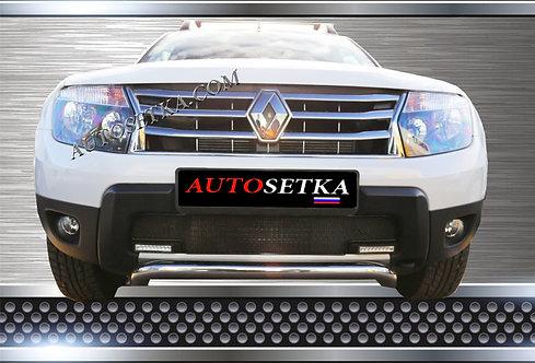 Premium защита радиатора Renault Duster с ДХО