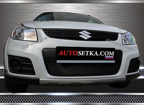 Premium защита радиатора Suzuki SX4 (2010-2013) Ч