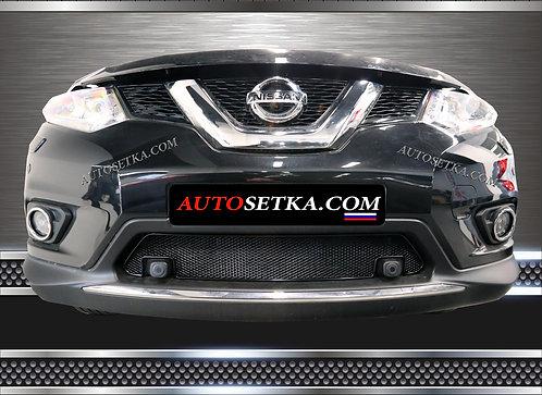 Premium защита радиатора Nissan X-Trail 2015 с ПРК