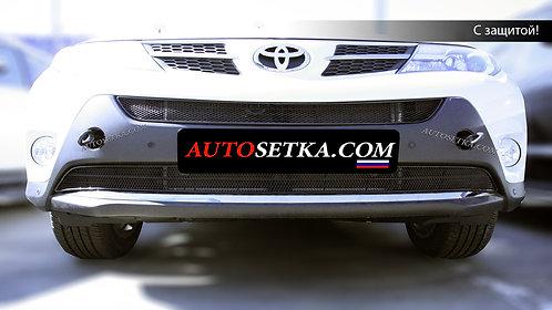 Premium защита радиатора Toyota RAV-IV (2013-) Ч.