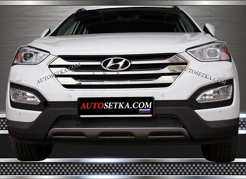 Premium защита радиатора Hyundai Santa Fe (2012) Ч