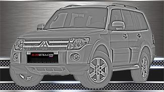Защита радиатора Mitsubishi Pajero IV 2008-11